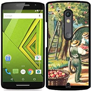 Funda para Motorola Moto X Play - Carretón Con Manzanas by hera56