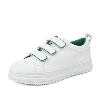 346a0367d369f Amazon.com: Fashion Casual White Shoes Women Skateboarding Shoes ...