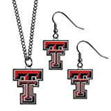 NCAA Texas Tech Red Raiders Dangle Earrings & Chain Necklace Set