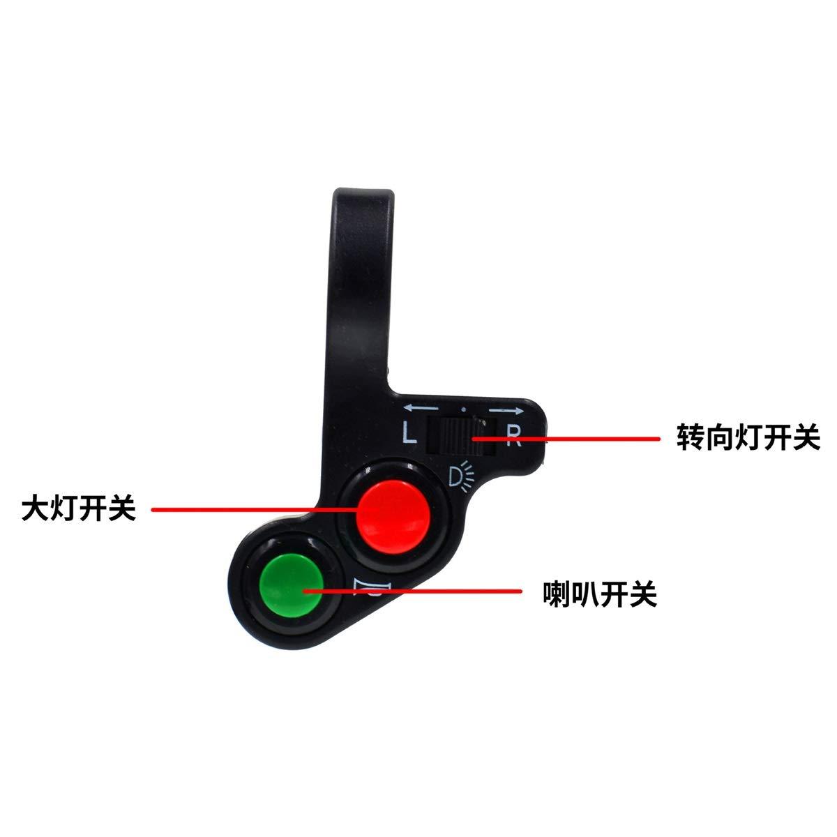 Unbekannt Motorrad Elektrisches Dreirad Ge/ändert Multifunktionsschalter Blinker Horn Scheinwerfer DREI Und EIN Schalter Motorradteile
