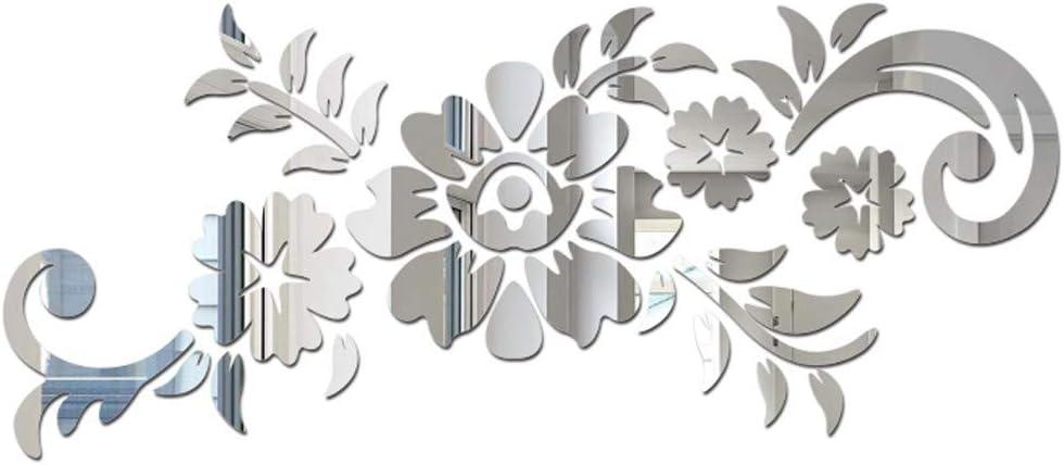 Koperras Fleur Acrylique Décoratif Sticker Mural Maison