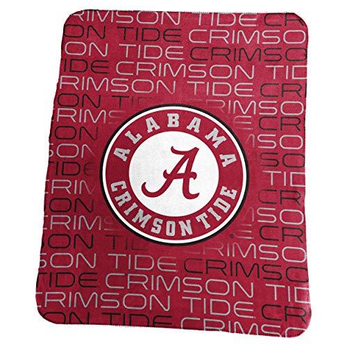 (Logo Brands NCAA Alabama Crimson Tide Classic Fleece Throw, One Size, Cardinal )