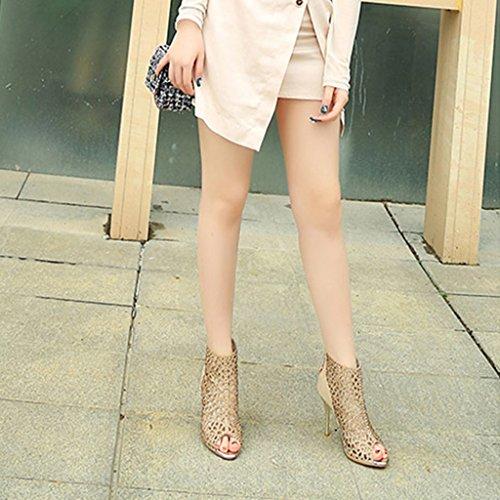 Sexy Chaussures Strass Couleur 230mm 8cm Creux Height 5 6cm Femmes Wedding Sandals 36 5 Height pour Taille Banquet US5 Haute Golden Femmes Talons UK4 z1qAwE4p