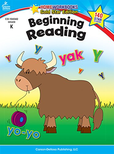 Beginning Reading, Grade K: Gold Star Edition (Home Workbooks)
