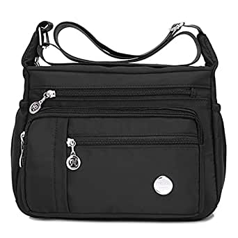 Purses and Shoulder Handbags for Women Crossbody Bag Messenger Bags Tote Waterproof (Large Bag-black)