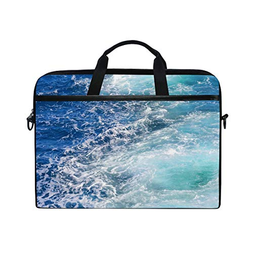 TFONE Ocean Sea Theme Laptop Bag Case Sleeve Briefcase Waterproof Shoulder with Strap for Ultrabook Notebook 13 Inch-14.5 Inch