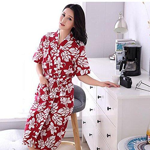 Panties Frauen Robe 100 Baumwolle VAusschnitt Bademantel perfekt für ...