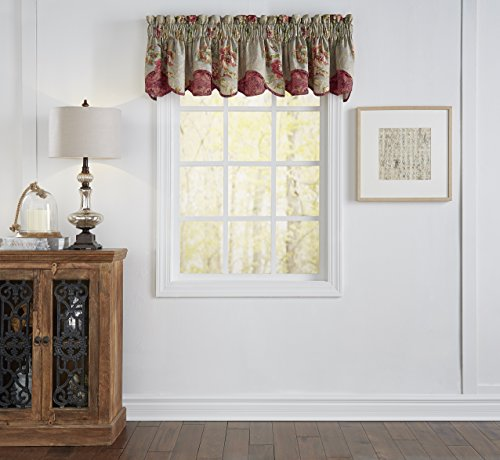 WAVERLY Kitchen Valances for Windows - Fresco Flourish 60