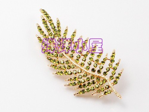 Brooch Pin Mosaic (TKHNE high-grade crystal mosaic diamond brooch pin badge pine needles flower corsage brooch pin badge pectoral 2-color women girls)