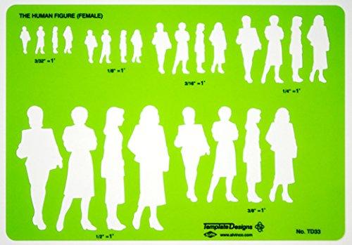 Alvin TD33 Female Human Figure Template