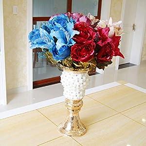 Artificial Slik Rose Flowers Lily Hydrangea Mixed Bouquet 88