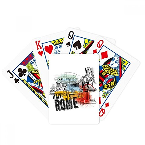 Italy Rome Landscape Roman Theater Poker Playing Cards Tabletop Game Gift by beatChong