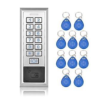 Cerraduras de puerta sistema de control de acceso RFID metálicos con WG26/wg34 entrada/