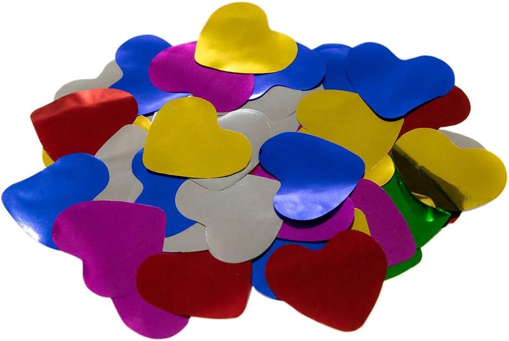 Confeti Corazones Brillo 4,2 cm.   Bolsa 100 gr. (Multicolor)   #Amor