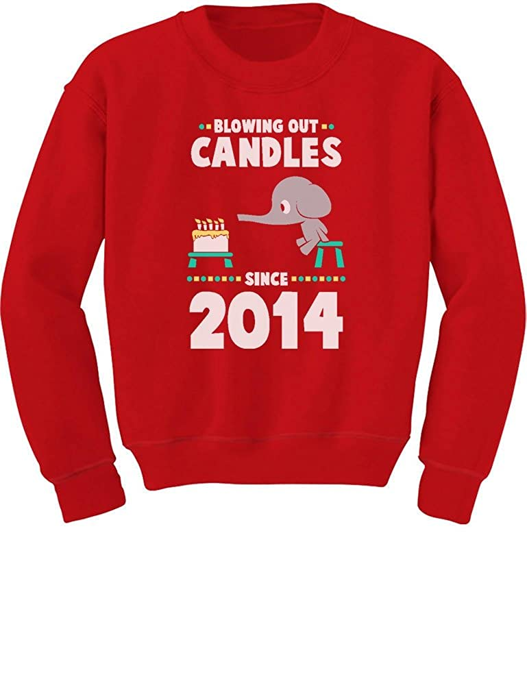 TeeStars 2nd Birthday Gift Blowing Out Candles Since 2014 Toddler/Kids Sweatshirts G0PMZ3Mgf5