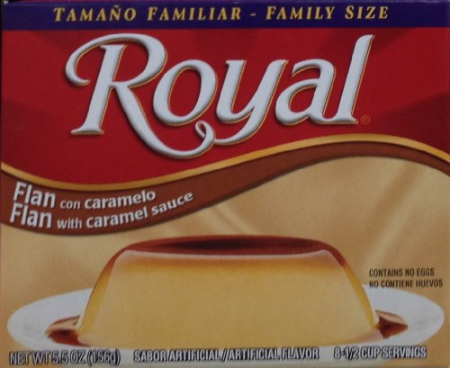 Mix Flan - Royal, Family Size, Flan with Caramel Dessert Mix, 5.5oz Box (Pack of 3)