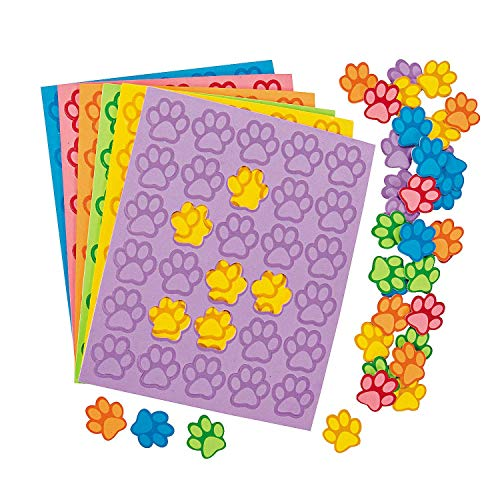Paw Print Foam Shapes - 500 pcs by Party Supplies