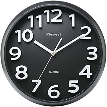 Amazon Com Bernhard Products Black Wall Clock Silent