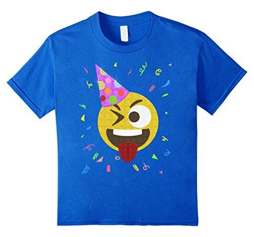Kids Silly Face Emoji Birthday Party Shirt - Glitter Emoj...
