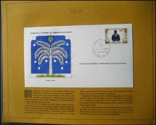1982 Nauru First Day of Issue Stamp