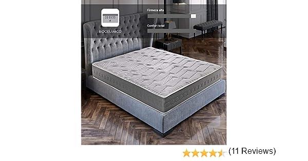 ROYAL SLEEP Colchón viscoelástico Carbono 150x200 firmeza Alta, Gama Alta, Efecto regenerador, Altura 25cm - Colchones Ceramic Plus: Amazon.es: Hogar