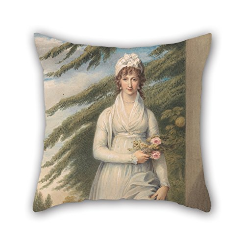 Uloveme Pillowcase Of Oil Painting John Massey Wright - Mrs. Martha Udney,for Outdoor,wife,relatives,christmas,floor,couples 20 X 20 Inches / 50 By 50 Cm(each (Mrs Marvel Costume)