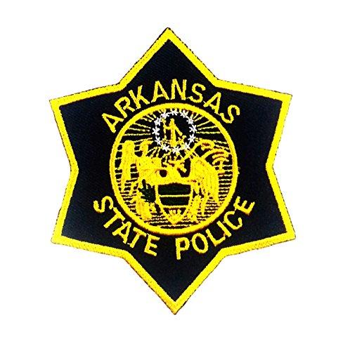 [9.3 X 8.2 Cm Arkansas Highway Patrol Trooper State Police Patch Public Safety] (Highway Patrol Costume)