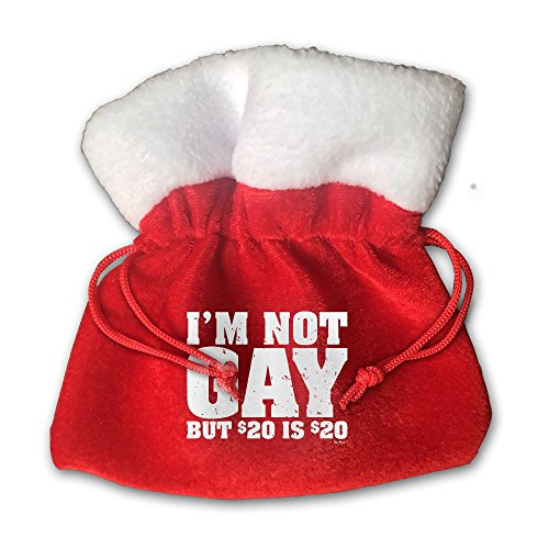 70 Government Box (I'm Not Gay Fabric Candy Treat Bags Santa Sacks Drawstring Christmas Gift Bags For Candies, Toys Or Decoration)
