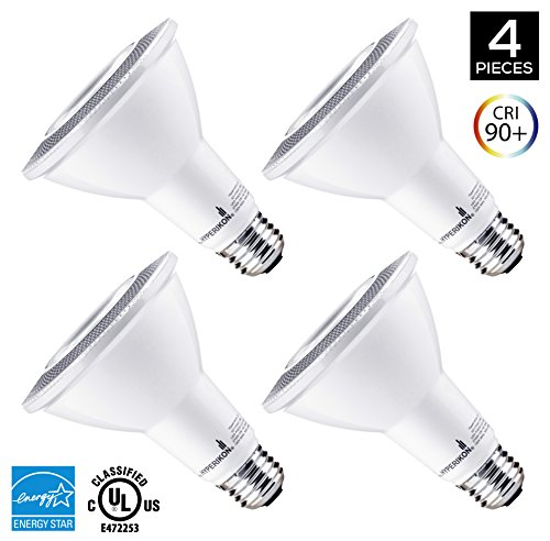Hyperikon PAR30 LED Bulb, 12W Dimmable Flood Light Bulb, 65-75W Halogen Bulb Equivalent, 900lm, 2700K (Warm White), 40° Beam Angle, E26 Base, Recessed Lights, ENERGY STAR & UL - (Pack of (30 Floodlight)