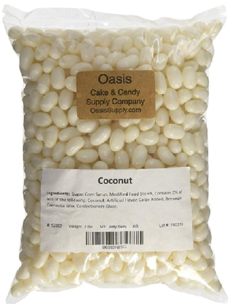 Jelly Belly Jelly Beans, Coconut, 1 Pound