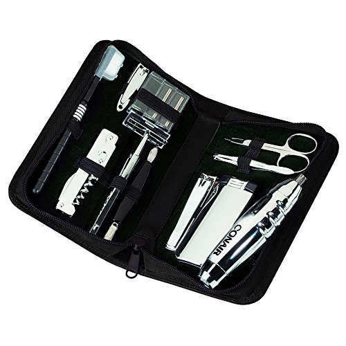 Executive Manicure Set - Royce Leather Executive Travel and Grooming Kit - Black