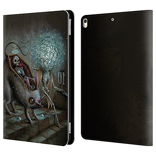 Official Jason Limon No Mans Land Skull Leather Book Wallet Case Cover For Apple iPad Pro 10.5 (2017)