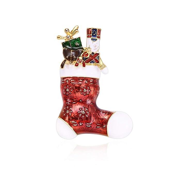 Regali Di Natale Da Donna.Spilla Da Donna Santa Calzini Design Sciarpa Fibbia