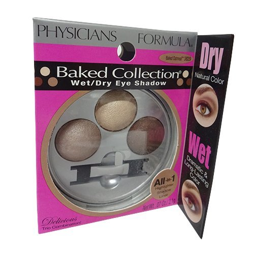 Dry Eye Shadow Dual Color - Physicians Formula - Wet/Dry Eye Shadow, Baked Oatmeal 3829