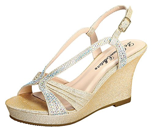 Winni-11 Stiletto Rhinestone Cut Out Ankle Strap High Heel Sandals Nude 7.5