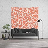 Society6 Wall Tapestry, Size Large: 88'' x 104'', Lazer Dance Coral by bitart