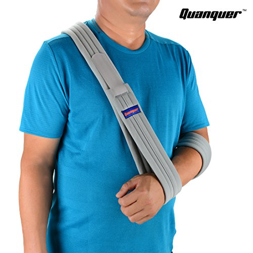 Review Arm Sling Shoulder Immobilizer- Adjustable Arm Support Strap for Broken Arm Immobilizer Wrist Elbow Support- Fits Both Adults and Youths (Simple/Lightweight/Comfortable)