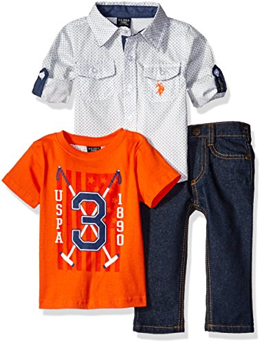 us-polo-assn-boys-3-piece-long-sleeve-fancy-sport-shirt-t-shirt-or-creeper-and-denim-jean-set-orange