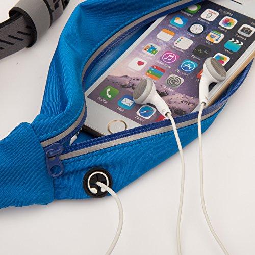 Belt type waist bag, outdoors running waist bag (Pink)