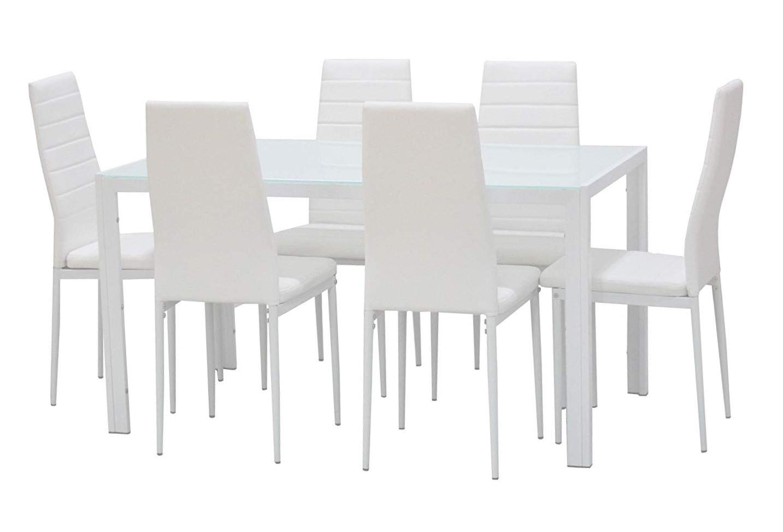 Table pour Salle à Manger cuisine 1 pièce (Noir) EBS