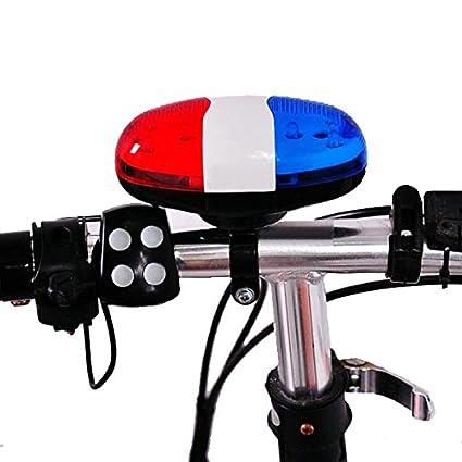 Amazon.com: 4 Sonido 6 alarma de seguridad LED Bike Cuerno ...