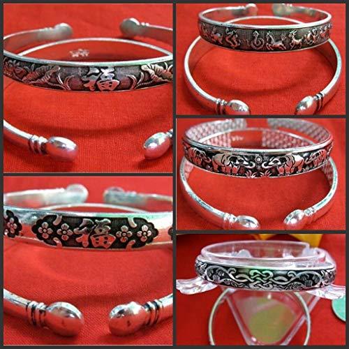 Wholesale 5pcs Tibetan Silver Eternal Knot Lotus Assorted Cuff Bracelet #ID-452