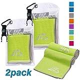 NOVOs 2 Pack Instant Cooling Sports Towel (40
