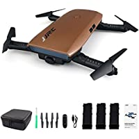 Beyondsky JJRC H47 Selfie Pocket Drone Mini Quadcopter with 720 Camera, 3 Batteries - Brown