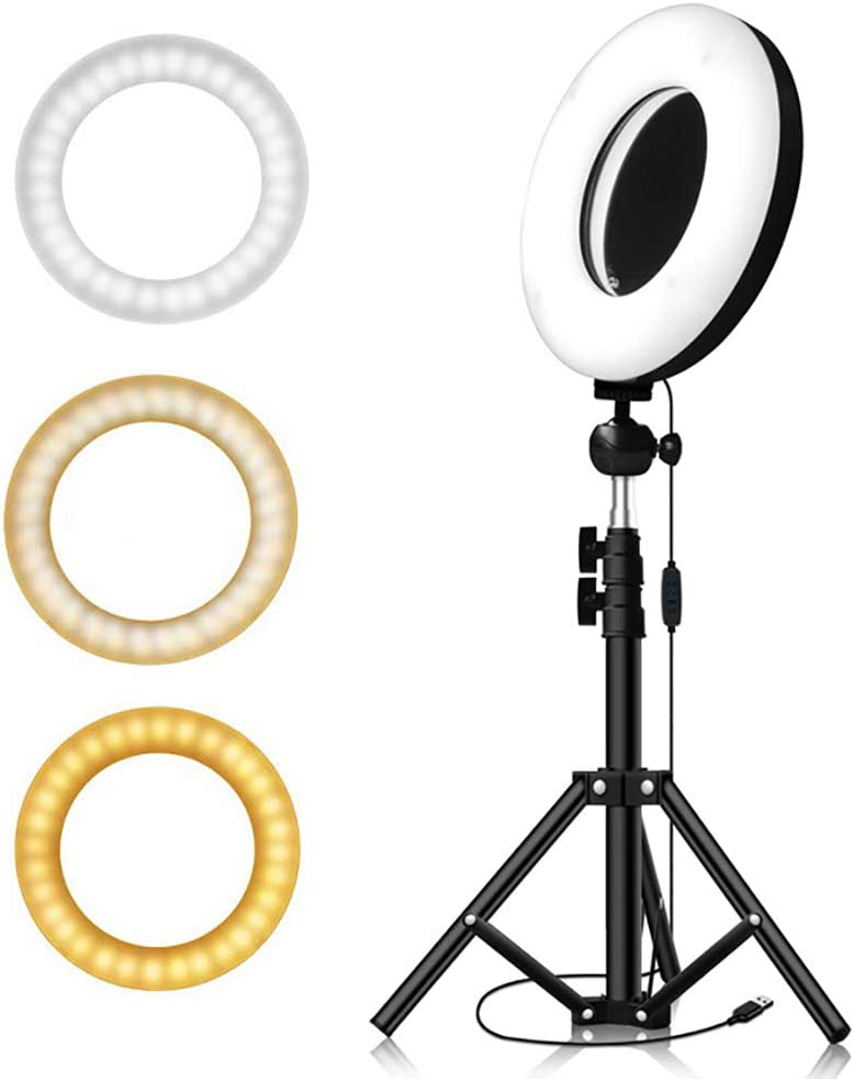 YouTube Makeup Ldab 9 Ring Light with 41.33 Adjustable Tripod Stand /& Phone Holder,/& Mirror 3 Lighting Modes and 10 Brightness Levels 3500-6500K for Live Streaming Vlog Video Shooting