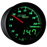 Black & Green MaxTow Wideband Air/Fuel Ratio Gauge with Oxygen Sensor & Data Logging Controller