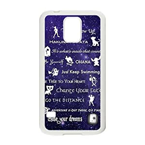 Purple design Chasing your dream motto Cell Phone Case for Samsung Galaxy S5