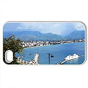 alanya beach - Case Cover for iPhone 4 and 4s (Beaches Series, Watercolor style, White)