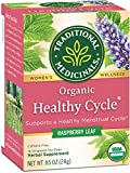 Traditional Medicinals Organic Healthy Cycle Raspberry Women's Tea, 16 Tea Bags (pack of 6)