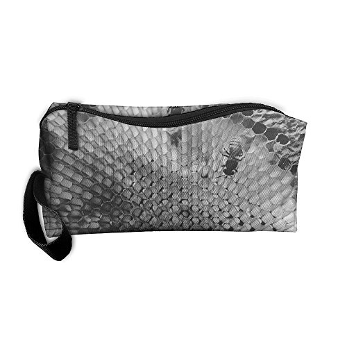 Portable Make-up Receive Bag Honeycomb Travel&home Storage Bag Zipper Organization Space Saver Canvas Buggy Pouch]()